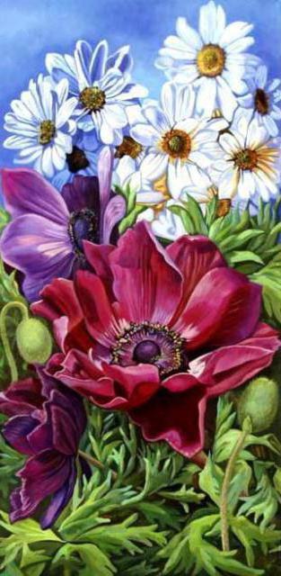 """Триптих """"Полевые цветы"""" 3,"""