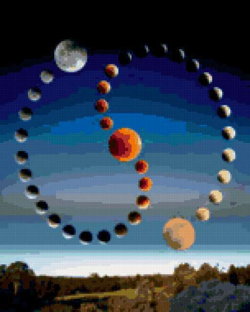 Парад планет, космос, небо,