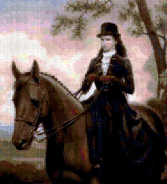 Всадница, конный, животные