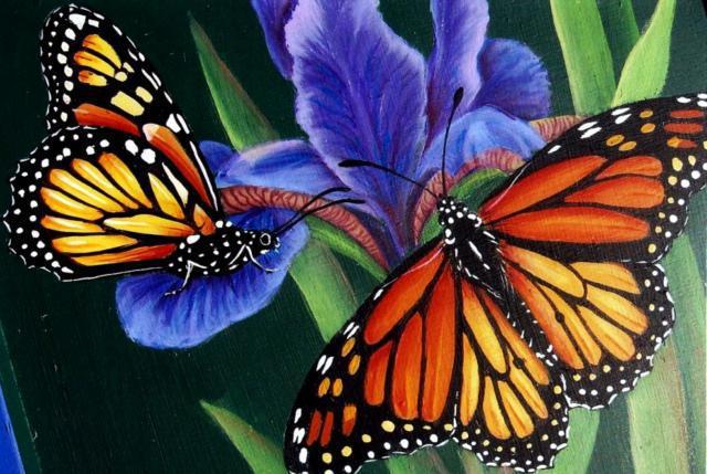 Оригинал - Схема вышивки «Цветы и бабочки» - Автор ...