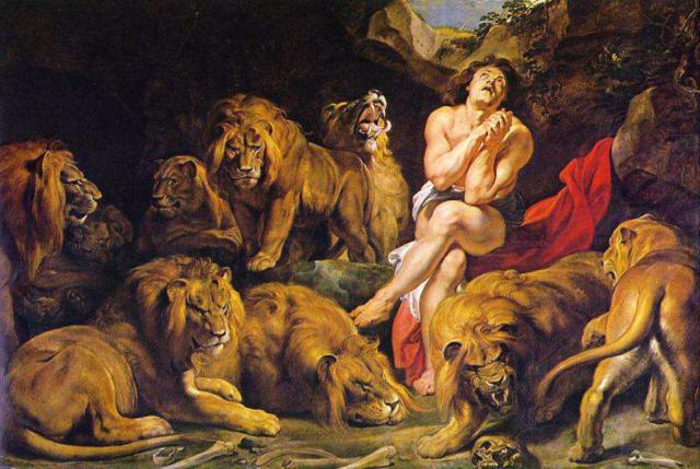 Даниил в логове львов,