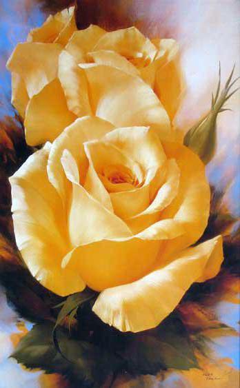 Вертикальные чайные розы ,