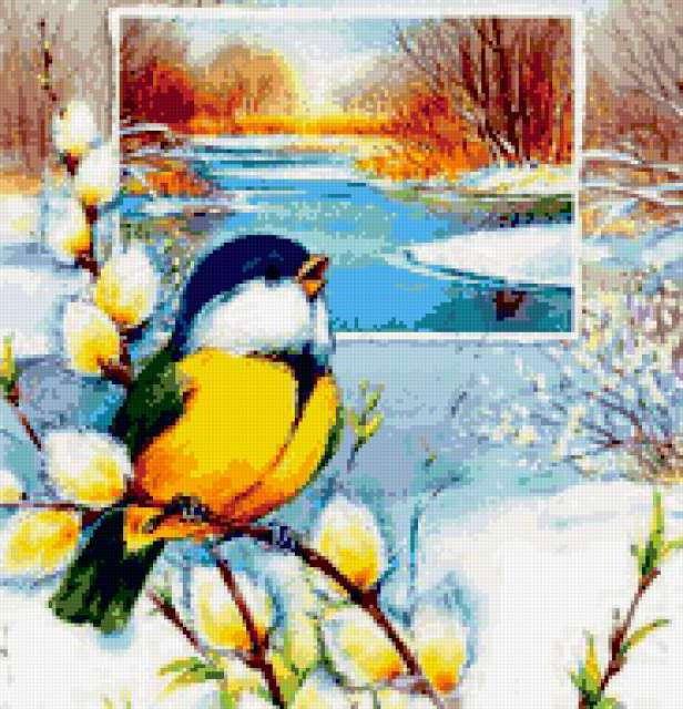 Весенняя птичка, птицы
