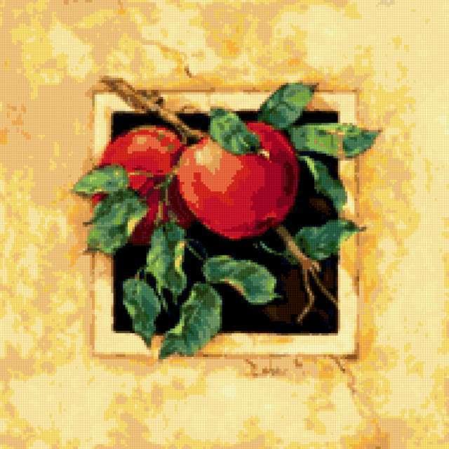 Подушка яблоки, предпросмотр