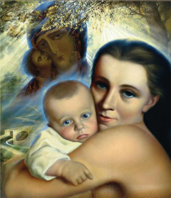 Женщина с ребенком, оригинал