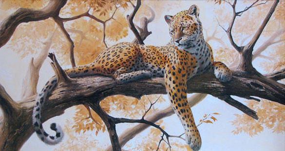 Ягуар на дереве, оригинал