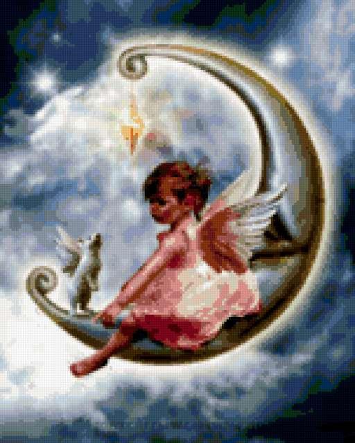 Ангелочек на месяце