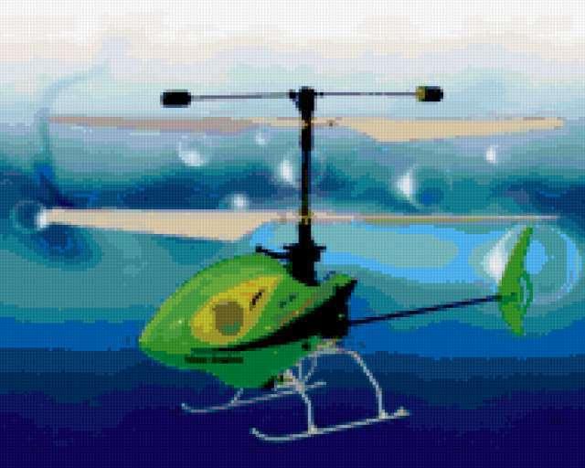 Вертолёт зелёный, предпросмотр