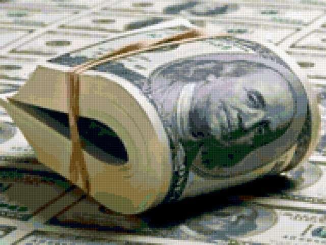 Доллары в резинке
