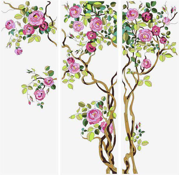 Цветы.Триптих, оригинал