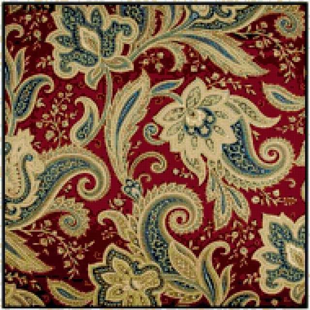 Ткань с орнаментом вышивки 18