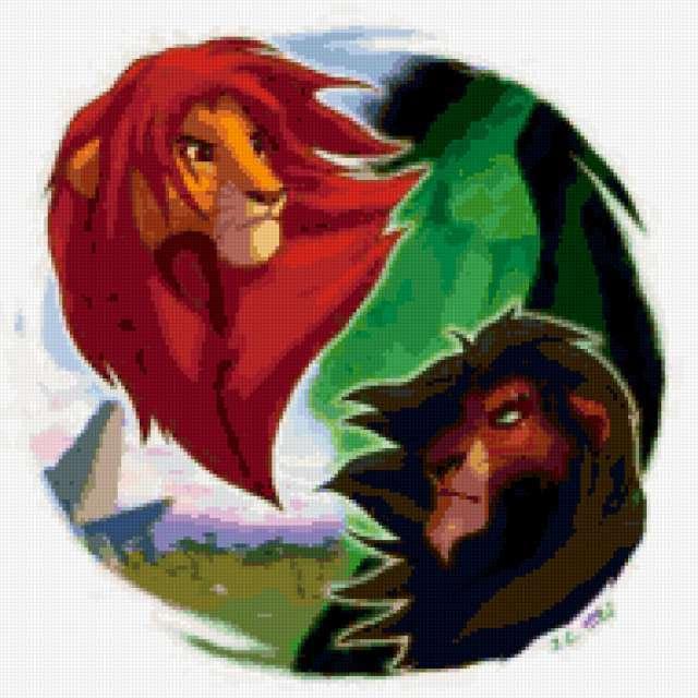 Король лев, мультфильм, король