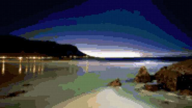 Ночной пляж, предпросмотр