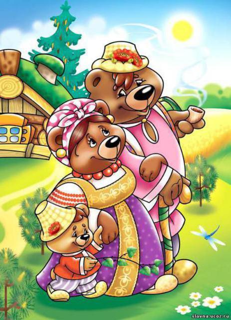 Три медведя, оригинал