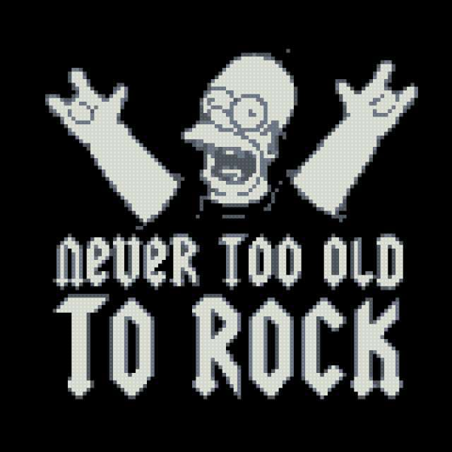Never too old to rock, рок н