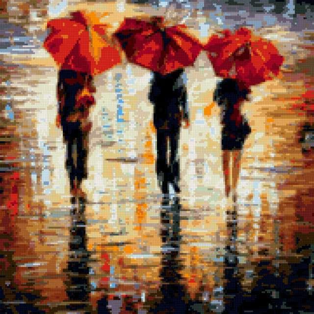 Картина Л. Афремова Дождь,