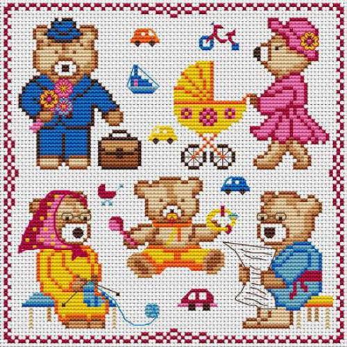Детские мини вышивки