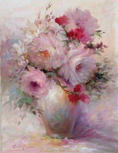 Пионы, flowers, ваза с цветами