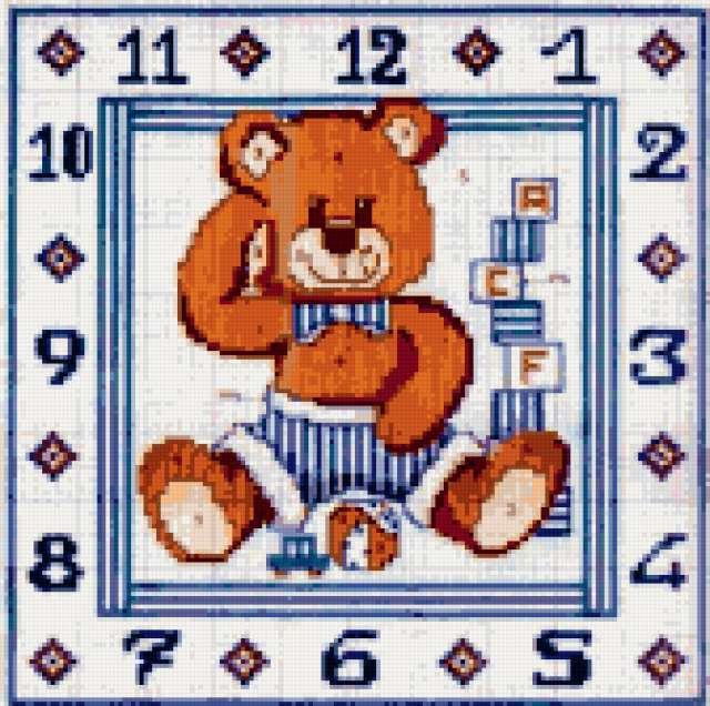 Часы с медвежатами, медвежата,