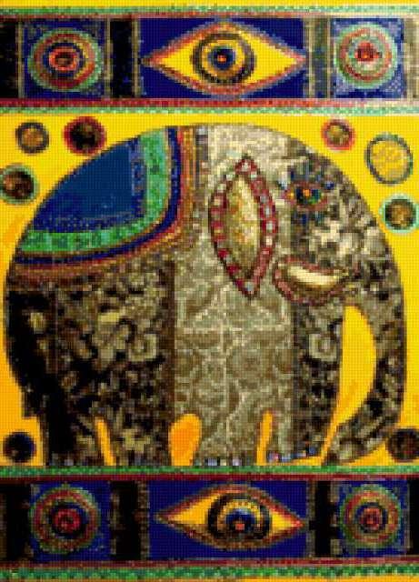 Индия.Слон, предпросмотр