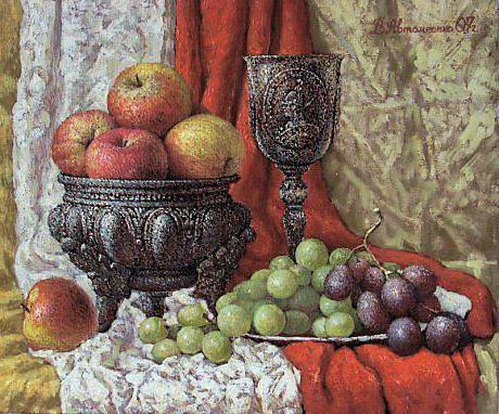 Виноград и яблоки, оригинал