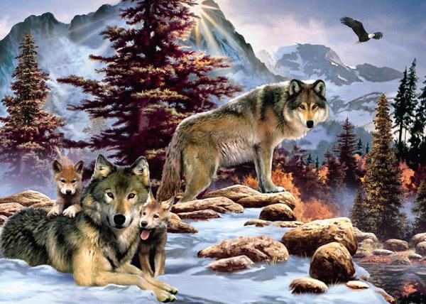 Семья волков, оригинал