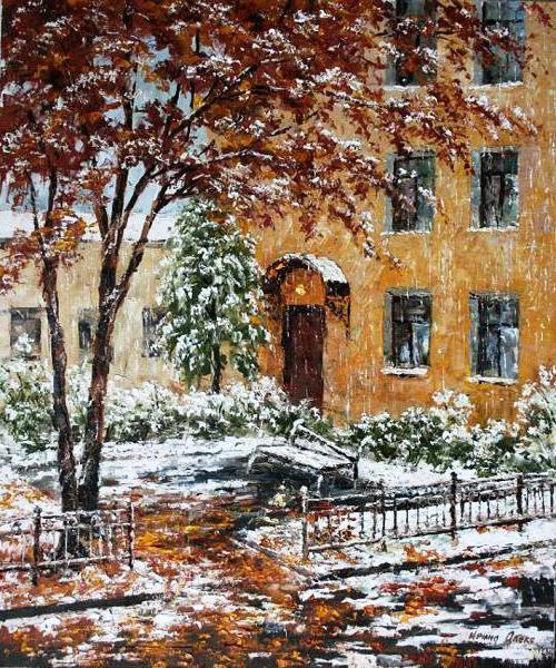 Зимний дворик, старые дворики,