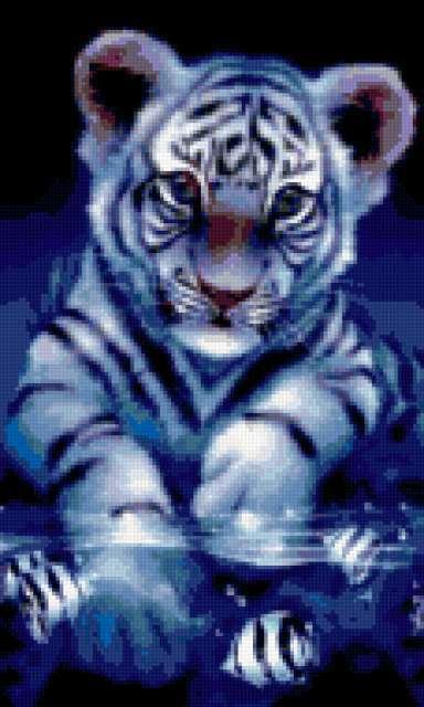 Белый тигренок, предпросмотр