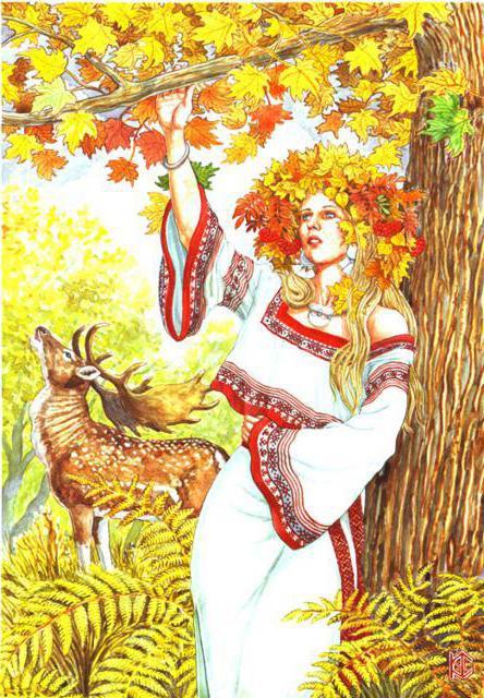 Девушка осень вышивка схема