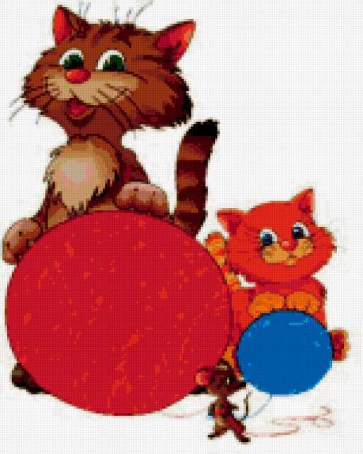 Котята и клубки, предпросмотр