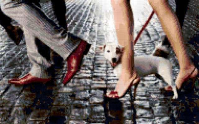 К схеме вышивки «Щенок у ног»