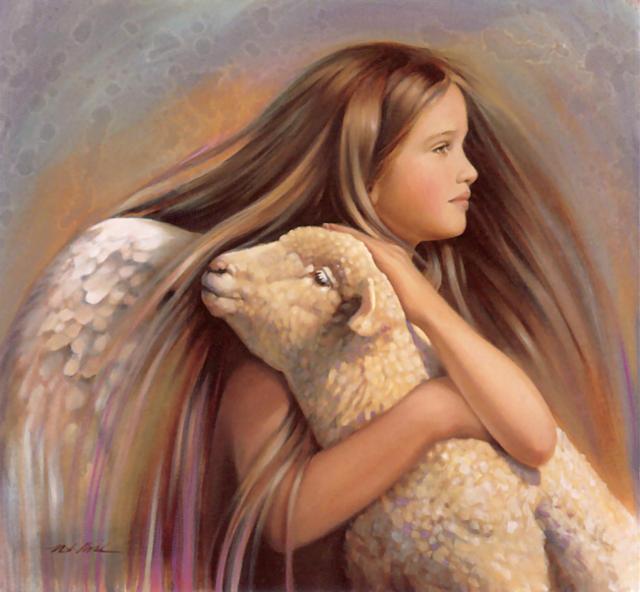 эту схему: ангел, девочка,