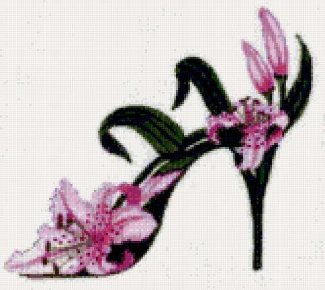Цветочные туфельки