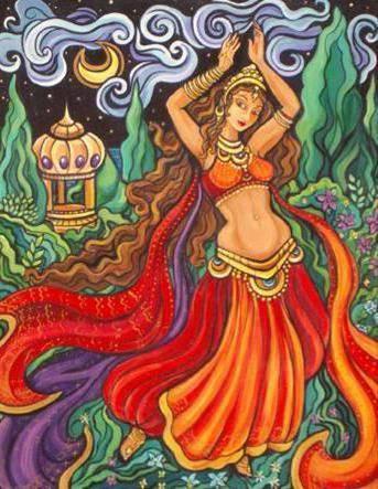 Танец живота, живопись