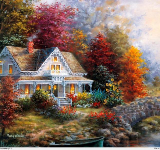 Дом на берегу реки, оригинал