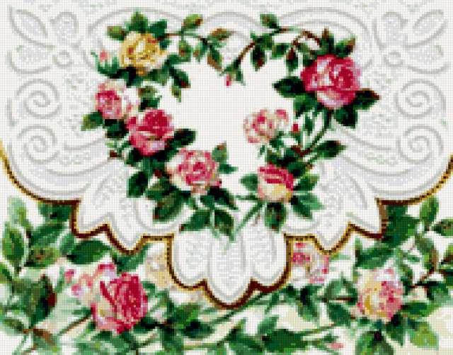 Подушка с розами, розы, роза,