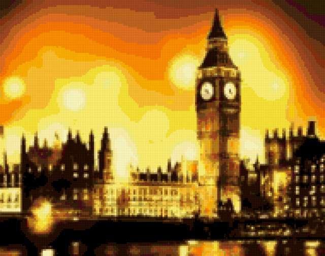 Лондон, лондон, город, ночь,