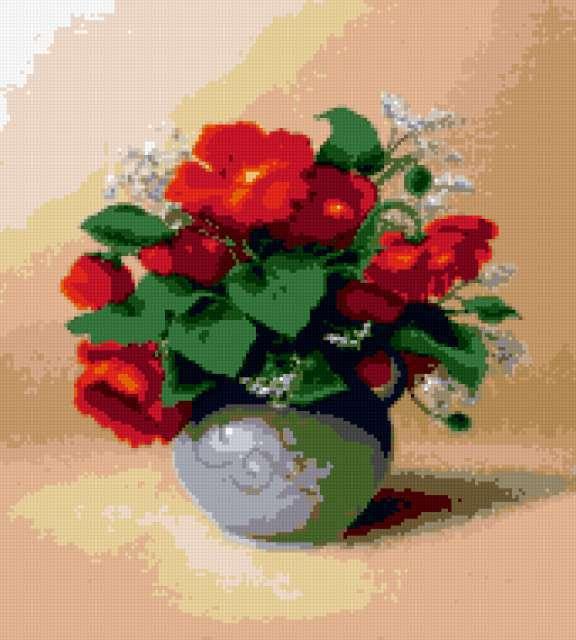 Цветы в горшке, предпросмотр
