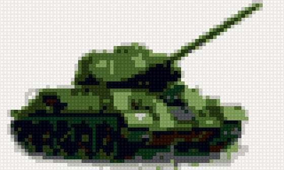 Схема вышивка крестом танк