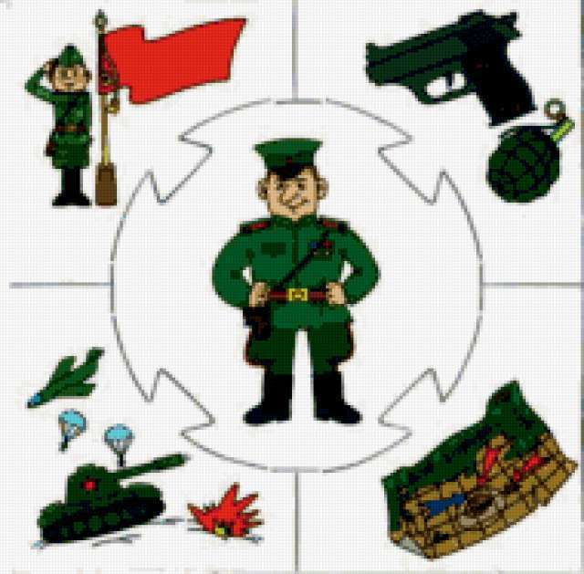 подушка, военный, танк,