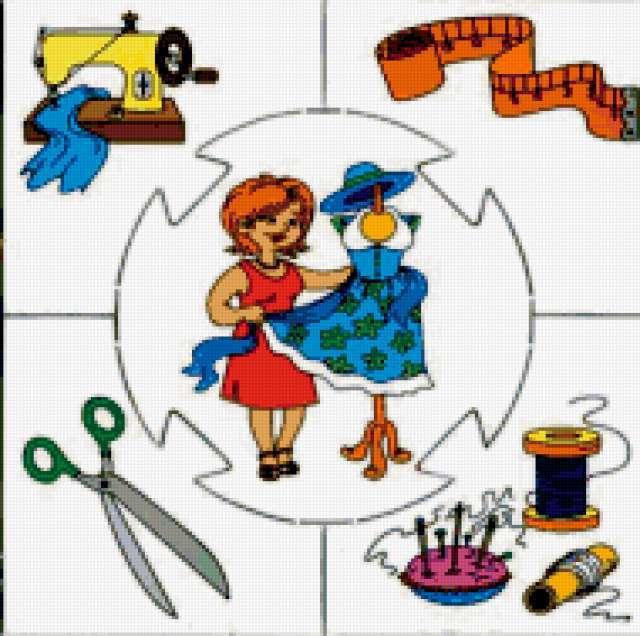 Детям-профессии, подушка