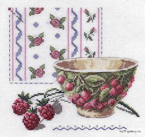 Малина, ягоды, корзинка, стол,