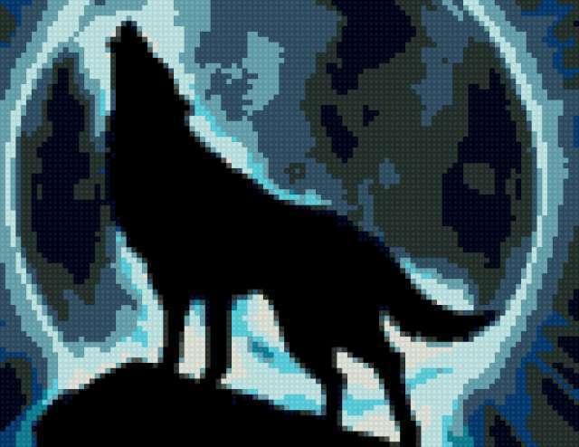 Волк и луна, предпросмотр