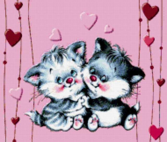 Влюбленные котята
