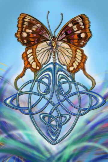 Бабочка с вензелями, оригинал