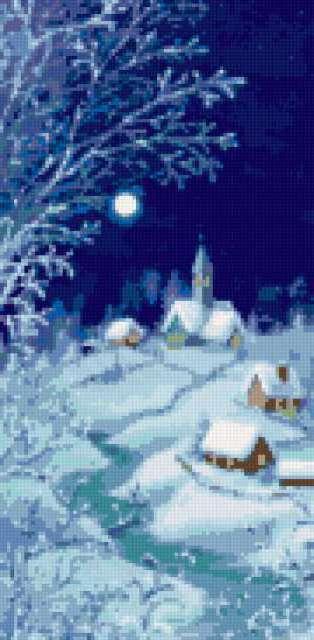 Зима в деревне,