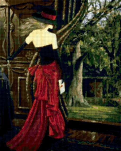 Женщина в черной шляпе,