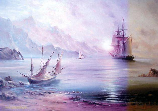 Морские пейзажи,
