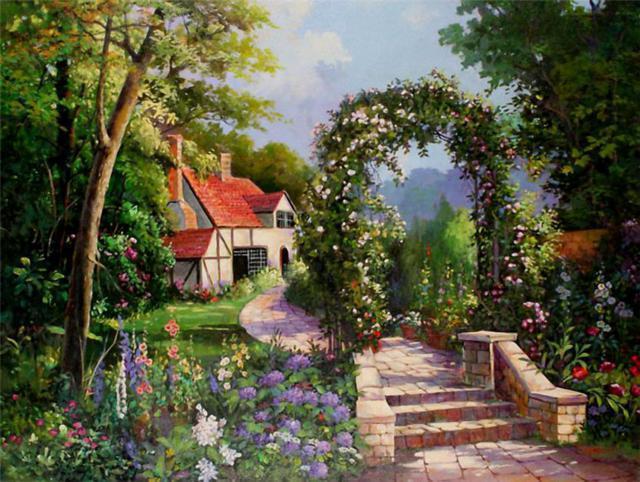 Цветущий сад, оригинал