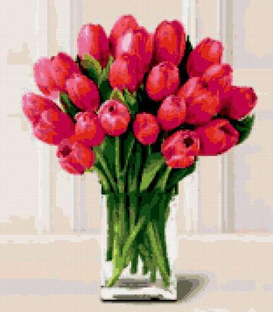 ... натюрморт, картина, акварель, живопись: www.xrest.ru/preview/Букет тюльпанов-1171805